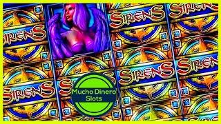 JACKPOT WIN/ SIRENS SLOT/ FREE GAMES/ HIGH LIMIT/ MUCHO DINERO