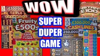 """Its a SUPERCALIFRAGILISTC Game""""FRUITY £500s""""TRIPLE CASHWORD""""CASH LINES""""Instant £100""""£250,000 Gold"""