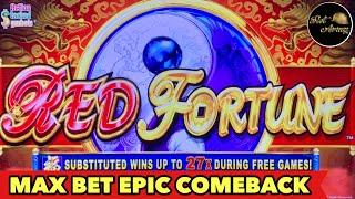 ️RED FORTUNE️MAX BET EPIC COME BACK | MIGHTY CASH DOUBLE UP BONUS SLOT MACHINE