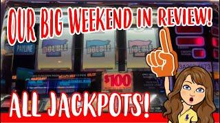 Handpay Jackpot Slots Compilation from our HUGE Horseshoe Bossier City Weekend ALL JACKPOTS