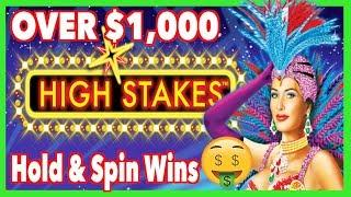 Over $1,000 Hold & Spin Bonus Wins ! High Stakes Lightning Link