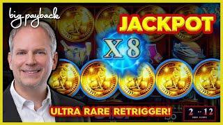JACKPOT, RARE RETRIGGER! Lock It Link Night Life - TOP AWARD, INCREDIBLE!!