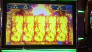 Rising Fire Dragon Slot Machine Free Spin Bonus #1 Palazzo Casino Las Vegas