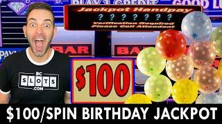 NON-STOP $100 SPINS  BIRTHDAY JACKPOT at Live! Casino Maryland!