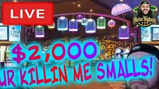 THE BAG GAME DOUBLE MASSIVE JACKPOT! 2 NEW Slot Machine! LIVE! $2k VS Mighty Cash Double Up