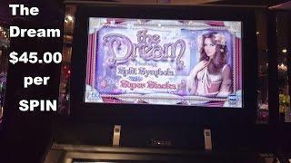 The Dream by H5G $40.00 Bet High Limit Live play High Five Games Slot Machine Las Vegas