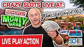 Live. Monopoly. MONEY GRAB!  High-Limit Slots with The Big Jackpot!