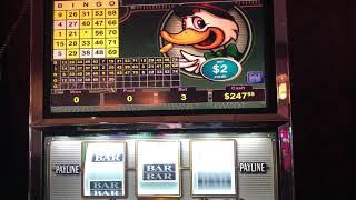 VGT Slots  Lucky Ducky  $6 Max Several Red Spin Wins Bingo Patterns Choctaw Casino, Durant, OK.