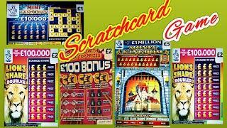 SCRATCHCARDS..MONEY KINGDOM..LION DOUBLER..CASHWORD..£100 BONUS