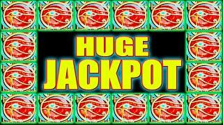AMAZING LINE HIT + RETRIGGER! HUGE JACKPOT HIGH LIMIT SLOT MACHINE