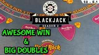 BLACKJACK SEASON 2:EPISODE #1 $30K BUY-IN ~ UP TO $2500 HANDS ~ AWESOME WIN WITH TONS OF BIG DOUBLES