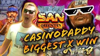 SAN QUENTIN RECORD!!! OUR BIGGEST X WIN EVER ON CASINODADDY