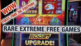 RARE EXTREME FREE GAMES WONDER 4 BOOST BUFFALO GOLD AT SKY TOWER CHOCTAW CASINO! 1ST TIME ON YOUTUBE