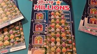 Merry Millions......and Bonus Scratchcard....in our... One Card Wonder Game..