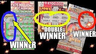 WINNER ON...... CASH SPECTACULAR..and ...WINNER ON... LION SHARE DOUBLER & MONEY KINGDOM..