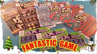 """FANTASTIC Scratchcard Game""""12 Month RICHER""""..CASHWORD...WONDERLINES..£100 LOADED""""WIN£50"""".5XCASH"""