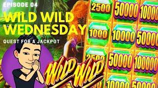 WILD WILD WEDNESDAY! QUEST FOR A JACKPOT [EP 04]  WILD WILD EMERALD Slot Machine (Aristocrat)