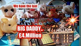 """•We have•BIG DADDY £4.Million•Scratchcards•(the last ones)•we""""ll buy more•if you give a""""LIKE•"""