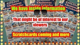 •Interesting information.on cards coming•what they are going to do with the £2 & £5 scratchcards•