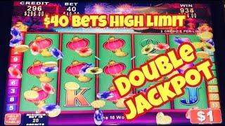 DOUBLE JACKPOT HANDPAY $40 BETS  KONAMI BIG WINS HIGH LIMIT SLOT MACHINE HANDPAY