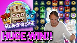 HUGE WIN! REACTOONZ BIG WIN - CASINO Slot from CasinoDaddys LIVE STREAM
