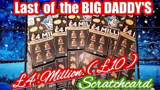 Big daddy...Last of the £4.Million (£10) Scratchcards..One Card Wonder game