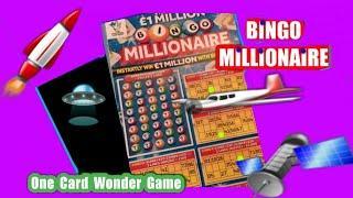 BINGO MILLIONAIRE...Scratchcard.... One Card Wonder Game