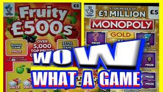 """What a Game""""Wow!.New FRUITY £500s.& MONOPOLY GOLD.INSTANT £100.RUBY 7's DOUBLER"""
