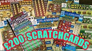 AMAZING  SCRATCHCARD GAME. FULL 500..LION DOUBLER..CASH 7s