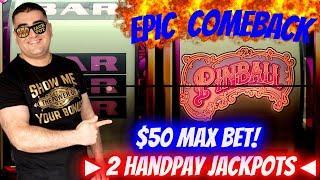 High Limit Action & 2 HANDPAY JACKPOTS - Epic Comeback ! Las Vegas Casino JACKPOTS ! Live Slot Play