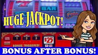 HUGE JACKPOT Jackpot AFTER Jackpot! PINBALL Slot Machine BONUS after BONUS  Top Dollar too!