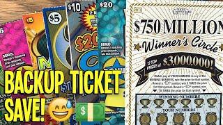 BACKUP TICKET SAVE! $160/TICKETS!  2X $30 Winner's Circle + LOTS MORE!  TX Lottery Scratch Offs