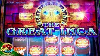 The Great Inca!!!  BONUSES on Aruze Gaming 1c Video slot in Morongo Casino