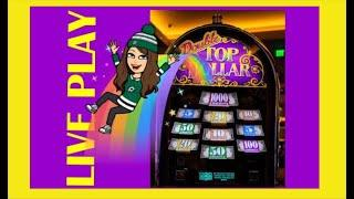 Double Top Dollar  Slot Machine, Live Play! $15 Max Bets
