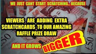 MASSIVE GAME.CAN'T  GET STARTED..EVERYONE  PUTTING SCRATCHCARDS INTO OUR RAFFLE DRAW .UNBELIEVABLE