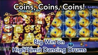 My Biggest Win on Dancing Drums So Far + Fortune Coin and More Coins, Coins, Coins!
