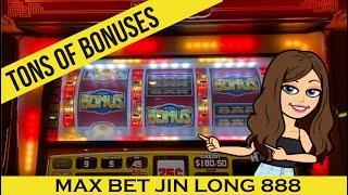 JIN LONG 888 SLOT MACHINE - Nice Profit! Tons of Bonuses - High Limit * MAX BET