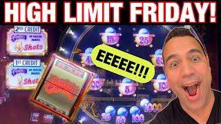 $25 Pinball JACKPOT HANDPAY!! Trains, Bags, Lightning Link and more HIGH LIMIT FRIDAY FUN!