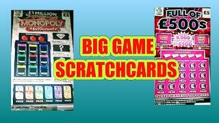 "START of BIG SCRATCHCARD GAME""FULL £500s""GOLD 7s""WIN ALL""Etc"