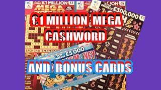 MILLIONAIRE Double CASHWORD Scratchcard..and ..BONUS Scratchcards... mmmmmmMMM..says