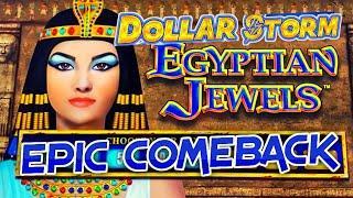 ️HIGH LIMIT Dollar Storm Egyptian Jewels EPIC COMEBACK ️$25 BONUS ROUND Slot Machine Casino