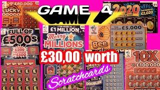 Scratchcards & Prizes..Diamond 7s Doubler..Lucky Bonus.Full £500.10x.B-Lucky.Pot Gold.2020