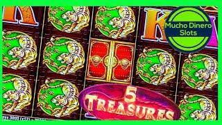 GRANDE JACKPOT/ 5 TREASURES SLOT JACKPOT/ $88 BETS/ HIGH LIMIT/ FREE GAMES