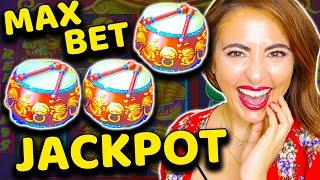 I MAX BET $220 on DANCING DRUMS Slot Machine & WON a JACKPOT HANDPAY!