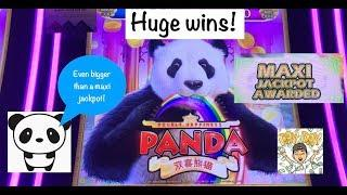 It's my biggest win on a Panda slot! Double Happiness Panda