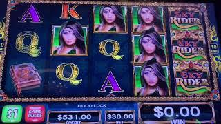 Sky Rider High Limit Slot Play - 5 Times Pay High Limit!!