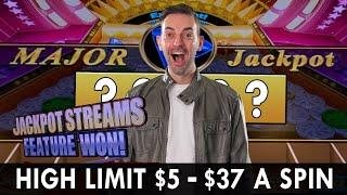 MAJOR WIN on HIGH LIMIT Jackpot Streams  $5-37 A Spin on China Shores  BCSlots