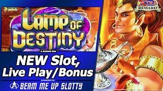 Lamp of Destiny Slot - Live Play and Free Spins Bonus in New Konami game with up to 100x multiplier