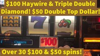 Old School Slots Presents: $100 Haywire & Triple Double Diamond $50 Double Top Dollar B&W Double Jpt