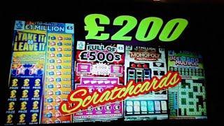 "BIG SUNDAY SCRATCHCARD GAME""FULL £500""50X CASH""JEWEL SMASH"""